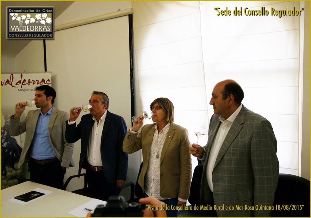 En la sede del Consello con el delegado territorial Rogelio Martínez