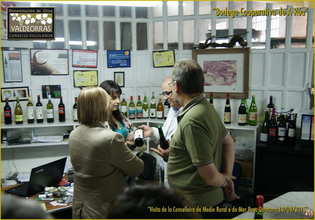 Viendo antiguas botellas en Cooperativa A Rúa
