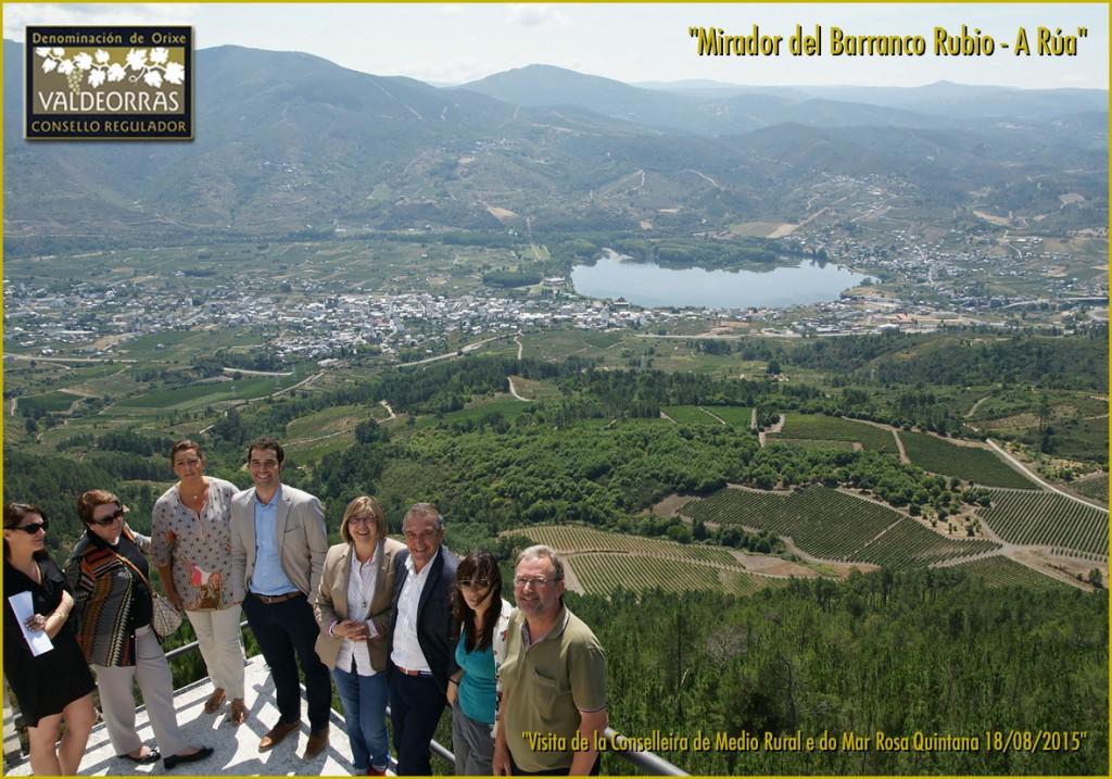 Visita al Mirador de Barranco Rubio en A Rúa
