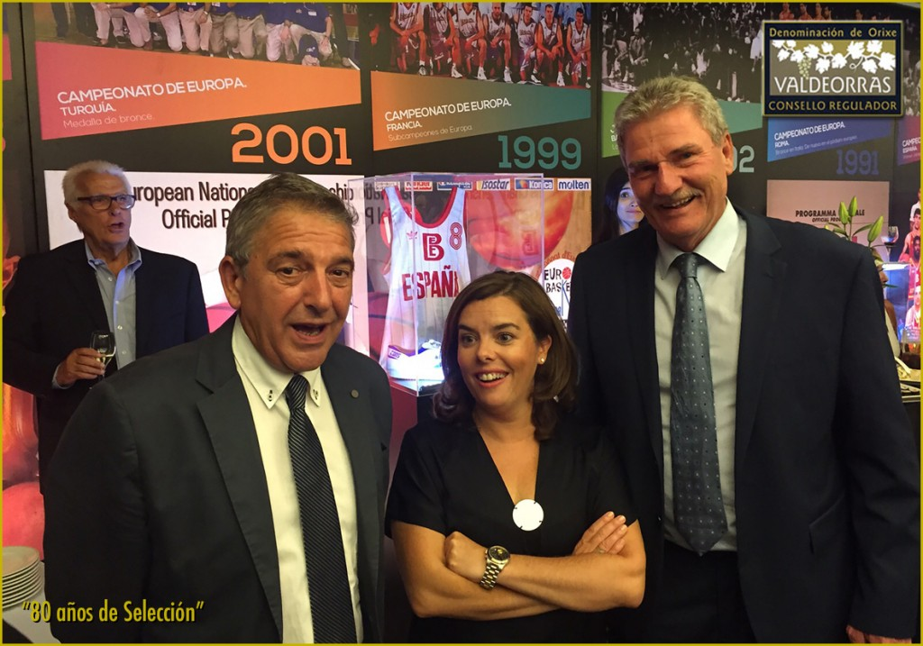 J. Vicente Solarat, Soraya Sáez de Santamaría and Wayne Brabender
