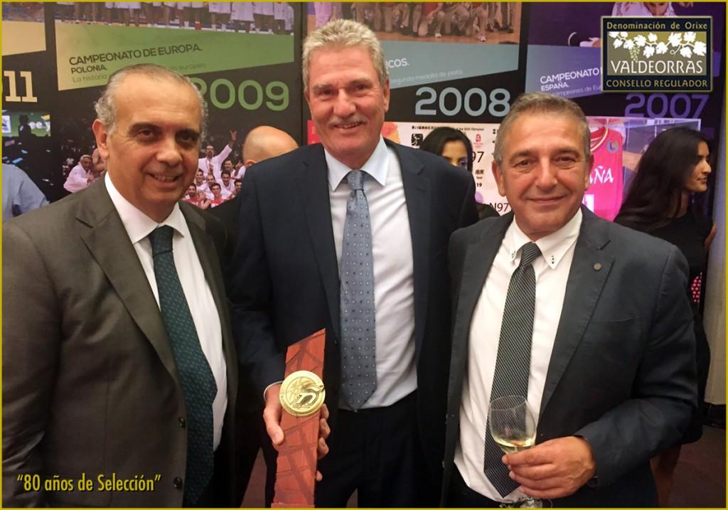 José Luis Sáez Regalado presidente FEB, Wayne Brabender and J. Vicente Solarat