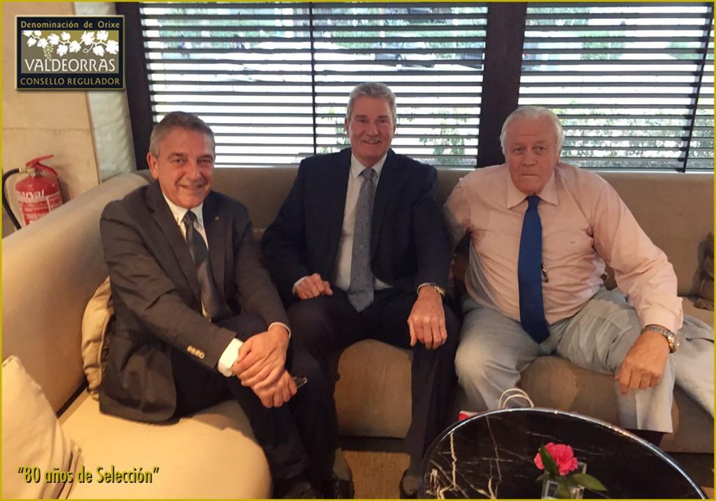 J. Vicent Solarat, Wayne Brabender y Emiliano Rodríguez
