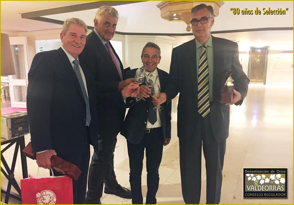 Wayne Brabender, Fernando Romay, J. Vicente Solarat y L.M. Santillana