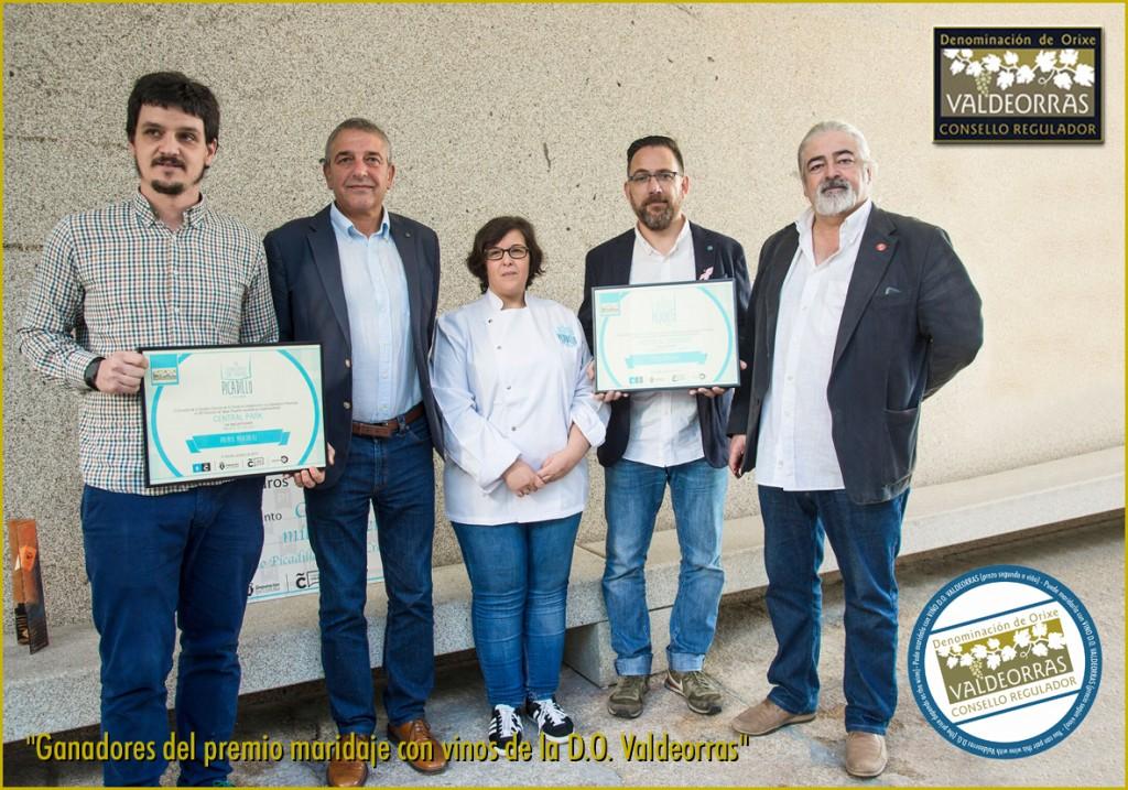 Ganadores del premio maridaje con vinos de la D.O. Valdeorras