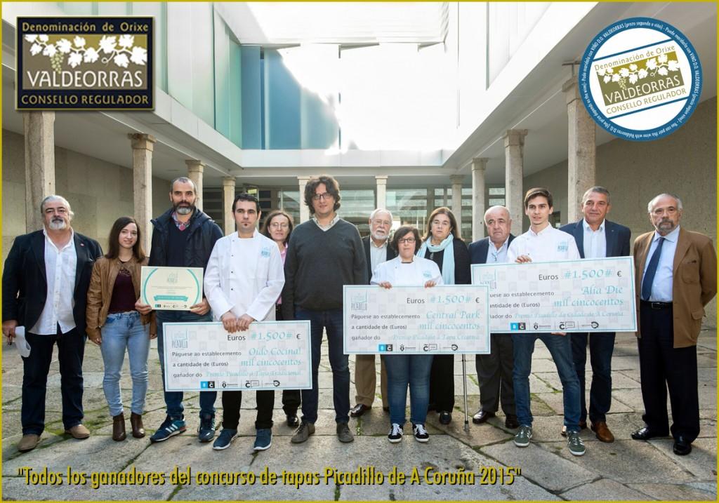 Todos los ganadores del concurso de tapas Picadillo de A Coruña 2015
