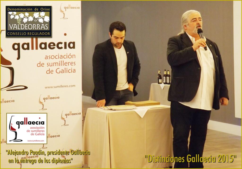 Alejandro Paadin, presidente Gallaecia en la entrega de los diplomas