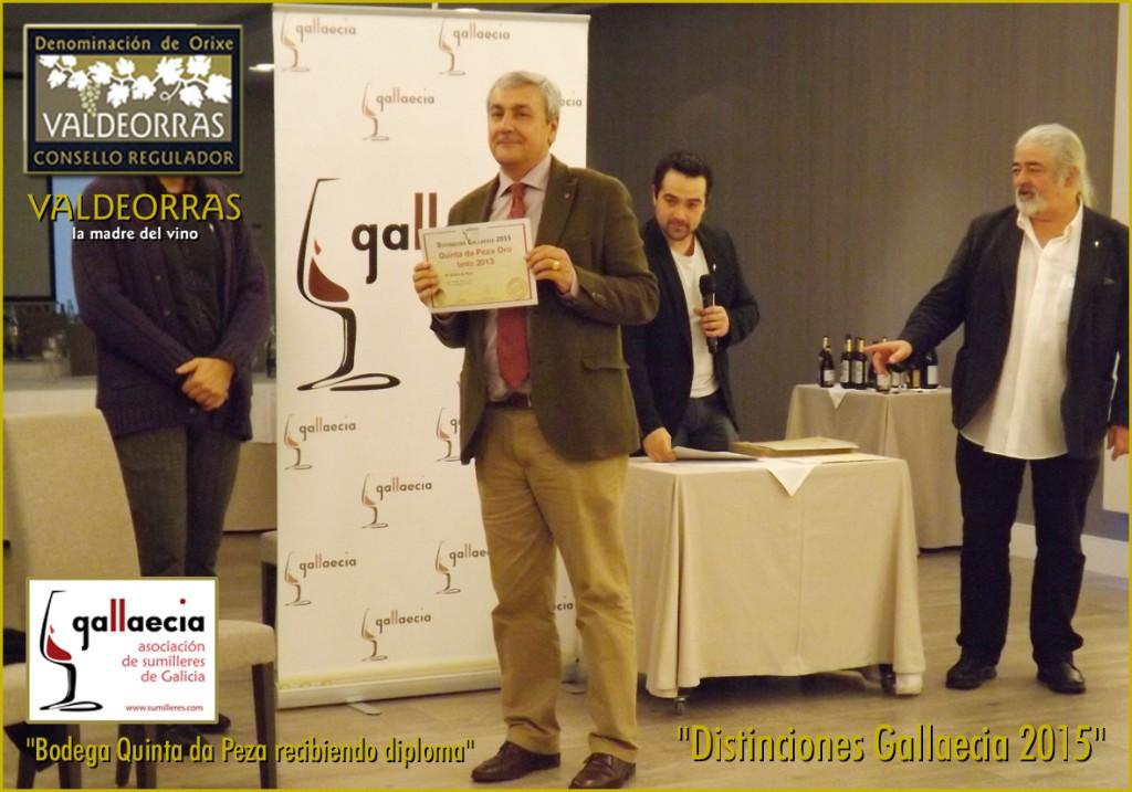 Bodega Quinta da Peza recibiendo diploma