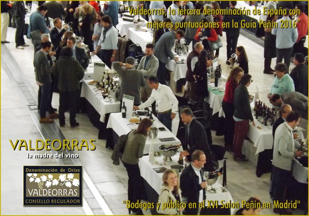 Bodegas y público en el Salón Peñín en Madrid