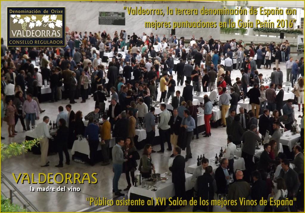 Público asistente al XVI Salón de los mejores Vinos de España en Madrid